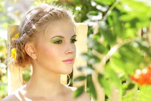 Blaue augen braune haare farbtyp